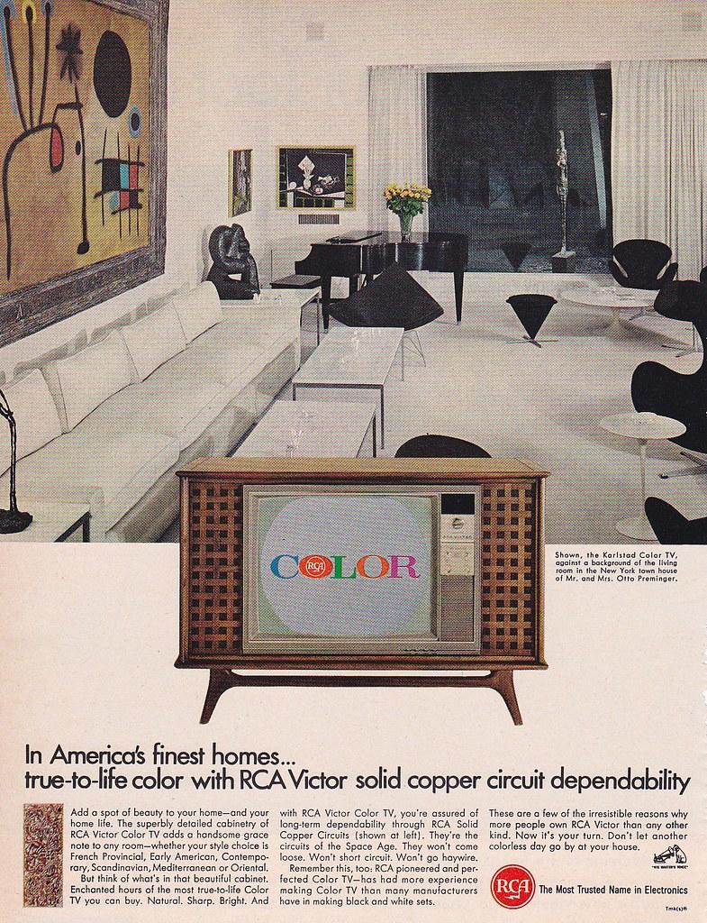 vintage radio versus television