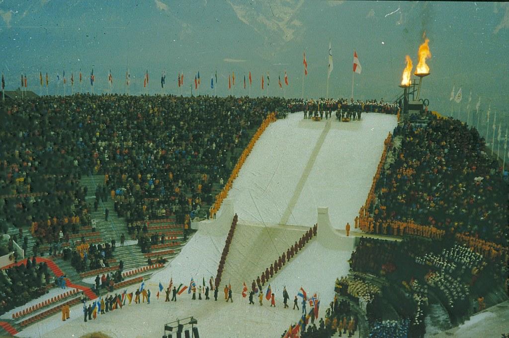 Innsbruck February 1976 Winter Olympics Stock Photo