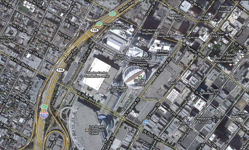 Google Maps Centered On 12th And Georgia Street Staples C