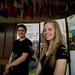 Simon Longpré-Landry et catherine LeBel, les deux jeunes porte-parole de la Marche 2/3