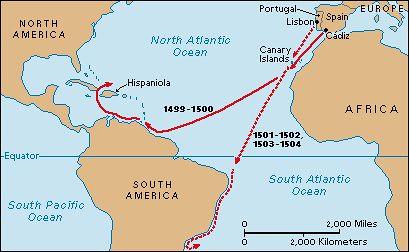 Amerigo Vespucci map |...