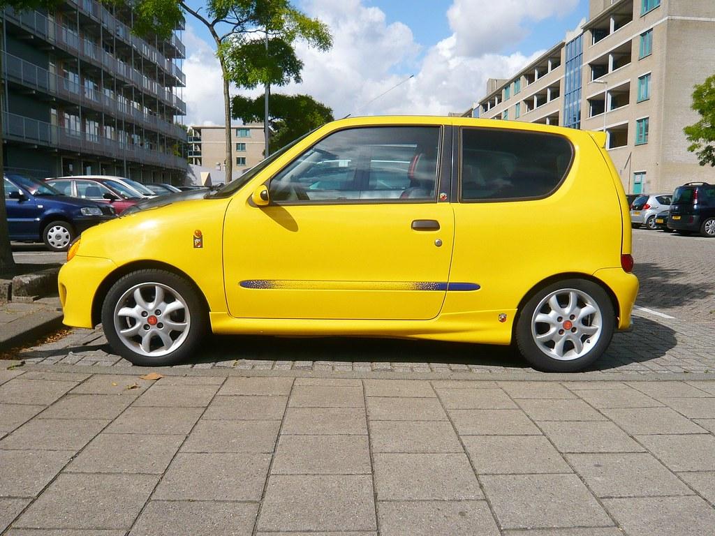 Fiat Seicento Sporting Yellow Fiat Seicento Sporting