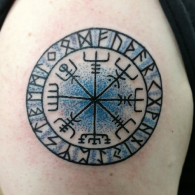 vegvisir viking vikings norse heathen pagan tattoo flickr. Black Bedroom Furniture Sets. Home Design Ideas