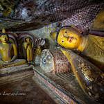 Reclining Buddha in a Dambulla cave