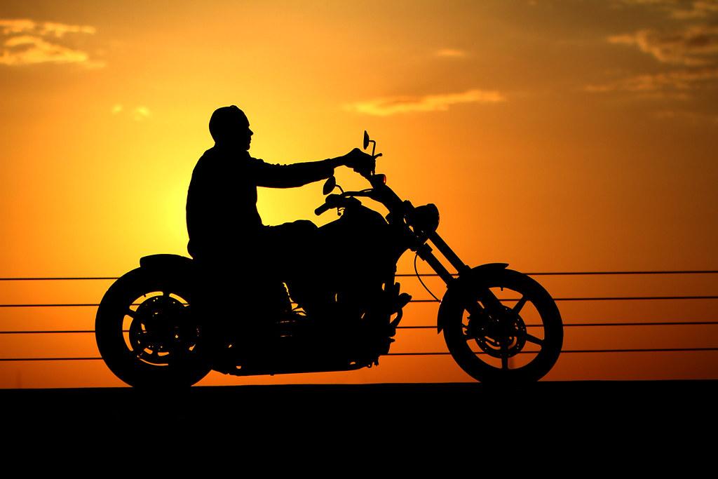 Harley sunset