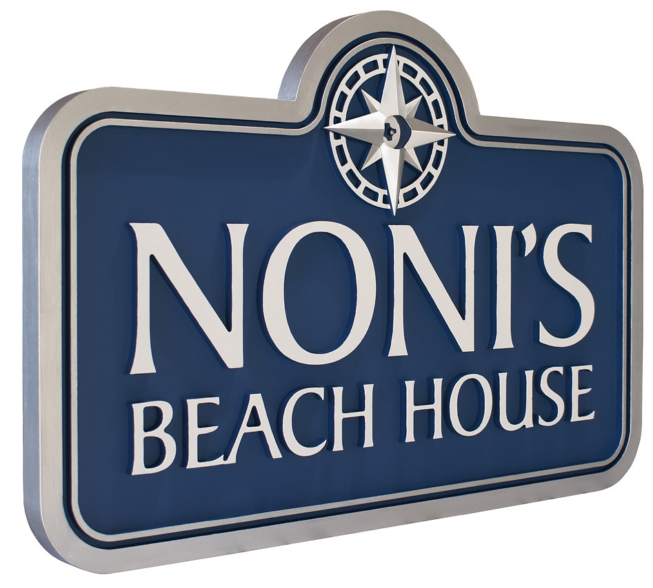 Wood Beach House Signs Personalized