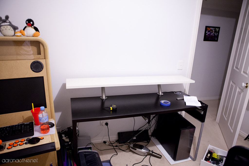 Ikea MICKE Desk Hack Almost finished