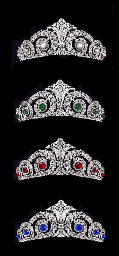 Queen Victoria Eugenia's Cartier Pearl Tiara envisioned wi… | Flickr