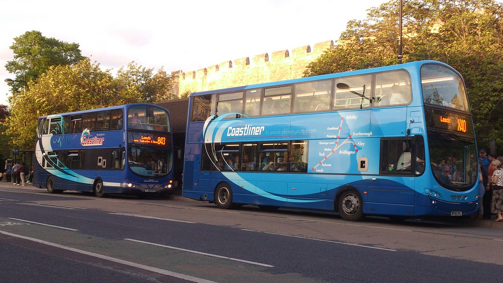 Choice of Coastliner Buses to Leeds - BF62UYL 429 and FJ08BYH 411 ...