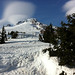 view from our table at Timberline Lodge