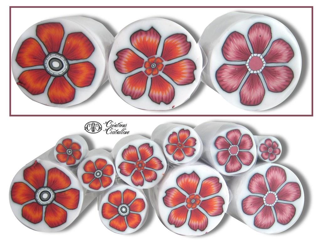canne fleur en p te polym re sophie arzalier flickr. Black Bedroom Furniture Sets. Home Design Ideas