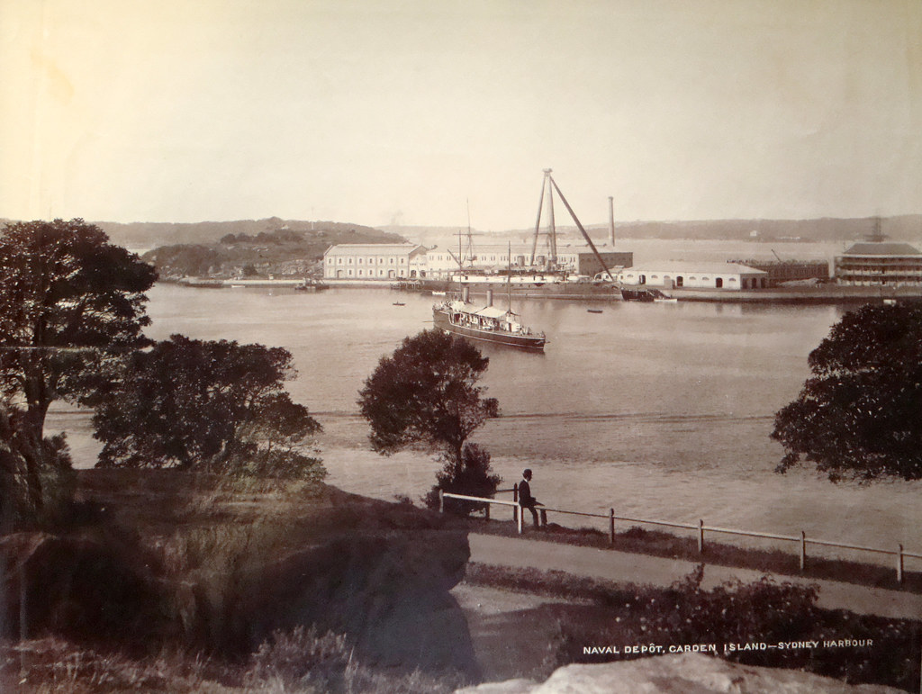 Naval depot garden island sydney harbour circa 1900 flickr for Landscape gardeners sydney