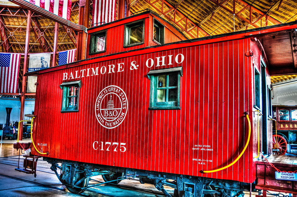 Baltimore Ohio Red Caboose C 1775 At B O Railroad Museum