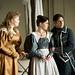 Rachel Willis-Sorensen as Countess Almaviva, Alexandra Kurzak and Ildebrando D'Arcangelo as Figaro in Le nozze de figaro © Bill Cooper/ROH 2012