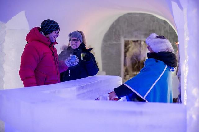 Bar de hielo en Noruega