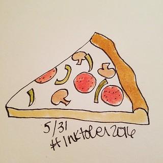 5/31 Pizza #inktober #inktober2016