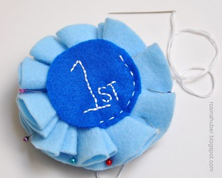 Blue Ribbon Rosette Tutorial | by Rosina Huber
