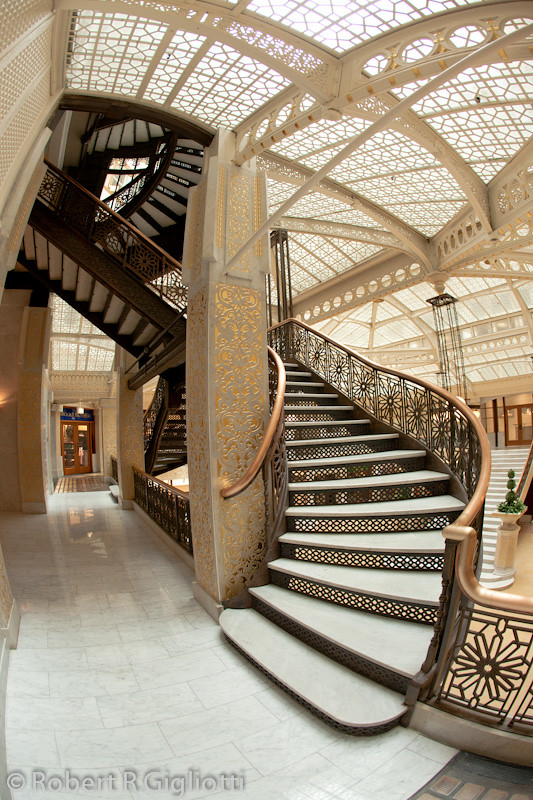 Rookery Building Stairs With Fish Eye The Famous Frank