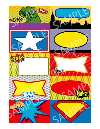 Superhero Birthday Party Place Cards Business Card Size Na