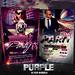 PSD Purple Flyer Bundle - 2in1
