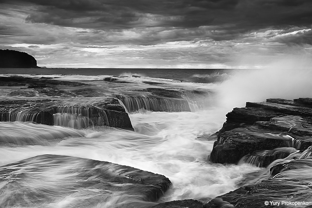 Black And White  Black And White Seascape North Narrabeen -1769