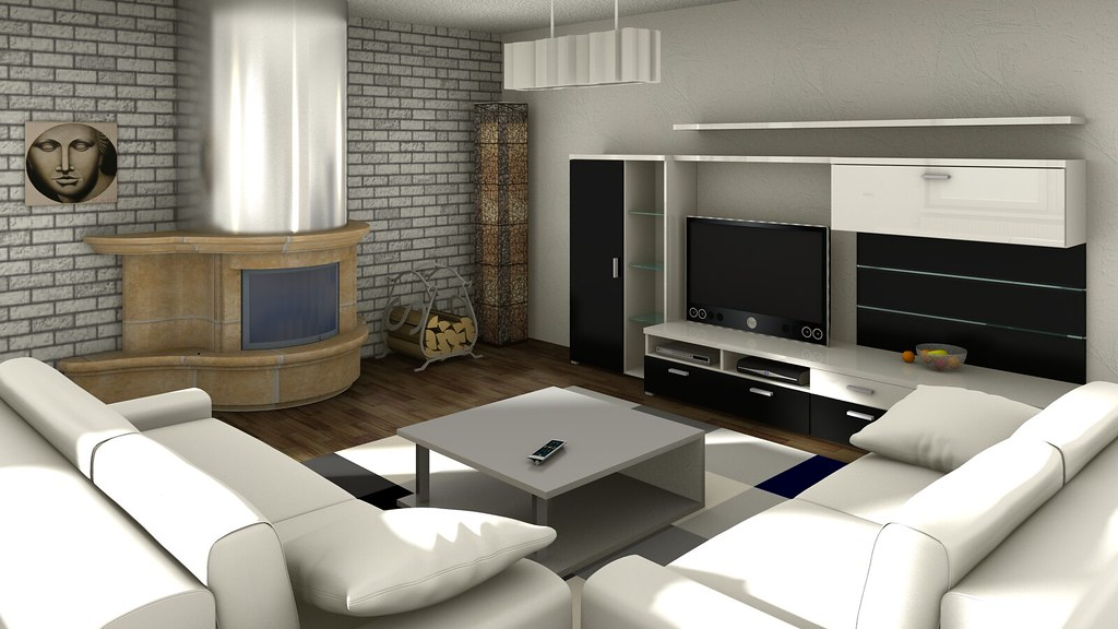 Living room rendering the yafaray raytracing engine for Planner arredamento