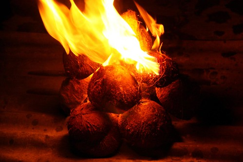 Fire and coconut shell | by fitri.agung