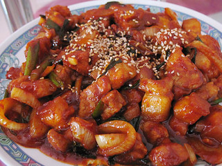 Jill Ng's spicy pork | by maangchi