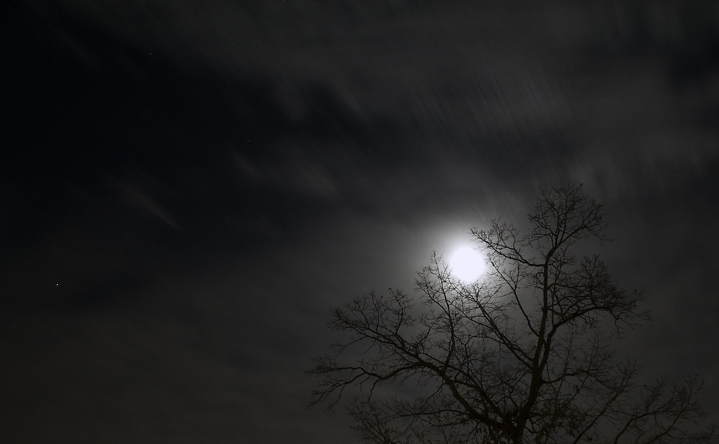 Cloudy Night Sky Stock Footage Video | Shutterstock