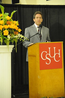 Ed Lebioda, Associate Vice President of Student Affairs, giving a speech at the 2009 Maximus Awards Ceremony | by California State University Channel Islands