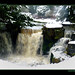 waterfall in snow