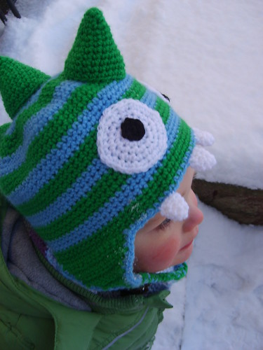 Gallery For > Crochet Dinosaur Hat Free Pattern