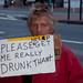 John, homeless wants money to get drunk