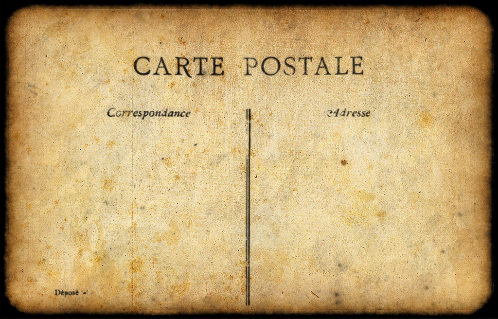 Carte Postale Template | Playing with Photoshop... needed a … | Flickr