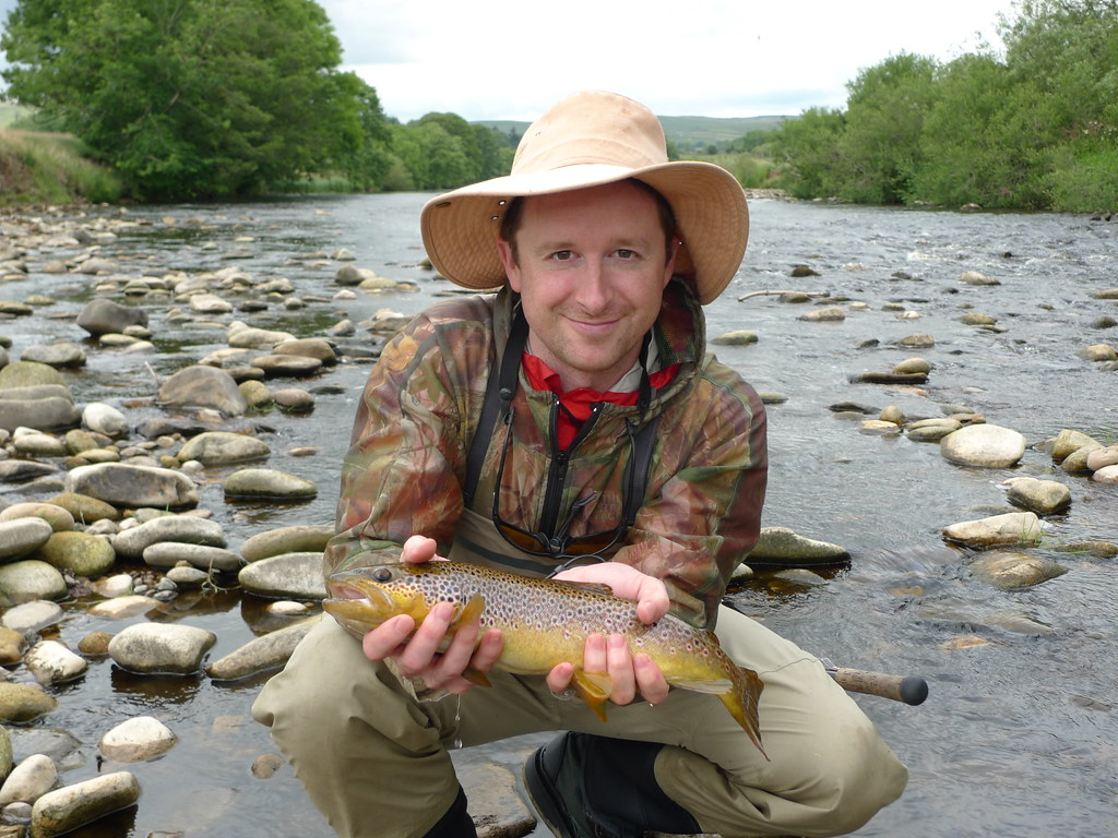 River wharfe brown trout justin mills guided by steve for Fly fishing guide jobs