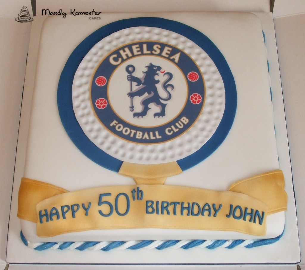 Chelsea Fc Cake 50th Birthday Cake Made For A Football