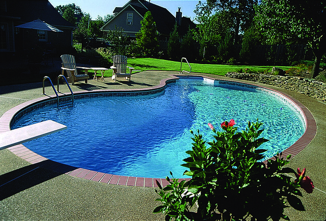 Kidney shaped swimming pool flickr photo sharing - Kidney shaped above ground swimming pools ...