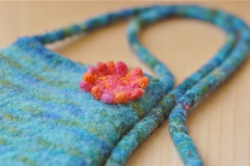 a new felted purse | by waldorf mama