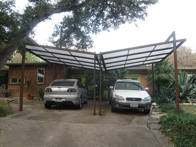 Butterfly Roof Steel : Steel butterfly roof carport flickr photo sharing