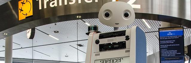 Robot Spencer en el aeropuerto de Ámsterdam-Schiphol