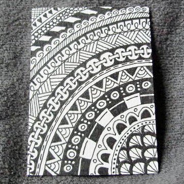 Zendoodle #1 ACEO (© Z.Ford)   2.5 x 3.5 inch ACEO in pigmen ...