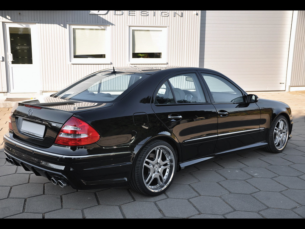 mercedes e class w211 full body kit rear bumper and side flickr. Black Bedroom Furniture Sets. Home Design Ideas