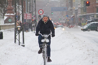 Snowstorm Headwind 02 - Winter Cycling in Copenhagen | by Mikael Colville-Andersen