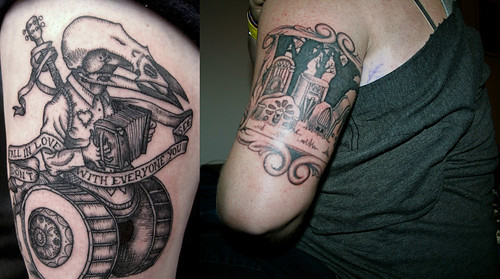 Two new okkervil river tattoos flickr photo sharing for East river tattoo price