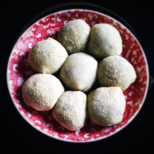 Homemade, Red Bean, Mochi, daifuku,  紅豆麻糬, 大福, 糯米糍, sweet rice cake, recipe, sweet mochi