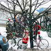 Christmas Tree with Bicycle Ornaments
