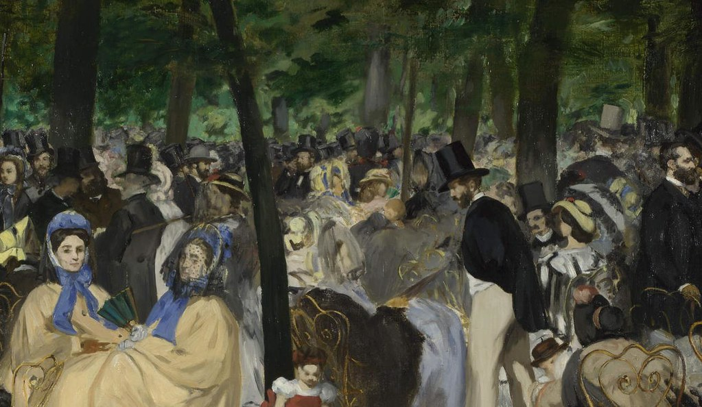 music in the tuileries Robert coe student no 507140 annotate a realist image page 1 of 3 music in the tuileries gardens - manet leaves oil on canvas 762 x 1181 cm painted1862 national gallery london.