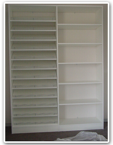 Slanted Shoe Shelves Shelf Unit Custom Closet Design