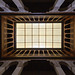 looking up interior of an arched building: Fondouk el-Nejjarine - Fes, Morocco