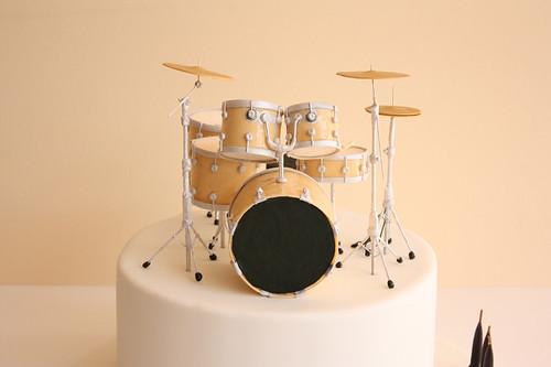 Drum Kit Birthday Cake Detail